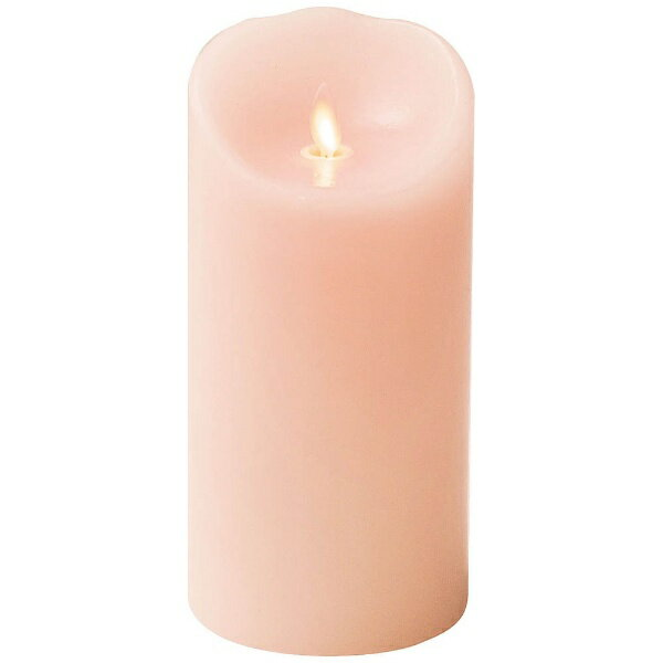 商品コード:NLM0205 LEDキャンドル ルミナラピラー ピンク 3×6