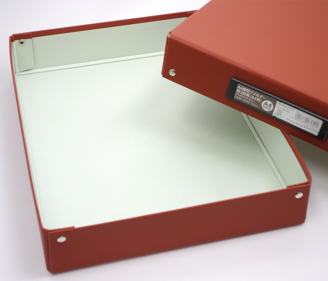 コクヨS&T トレーW10S デスクトレー A4ワイドサイズ 茶の写真