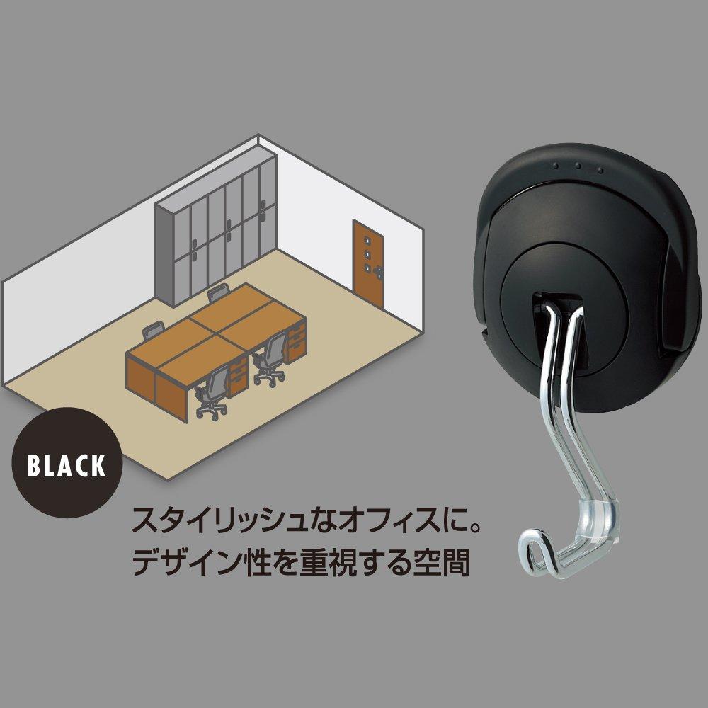 コクヨ 超強力マグネットフック タフピタ フク-227D 黒(1コ入)の写真