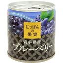 KK にっぽんの果実 岩手県産 ブルーベリー M2号缶 190g