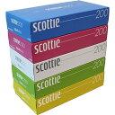 スコッティ ティシュー カラーパッケージBOX 400枚(200組)×5個パック