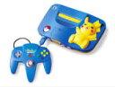 Nintendo 旧世代ゲーム機本体 ブルー&イエロー 任天堂 64 ピカチュウ