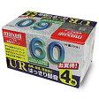 マクセル ノーマル音楽用テープ 60分 4巻パック UR-60L