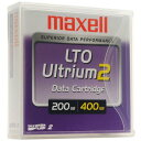 LTOデータカートリッジ 大容量データ保存用カートリッジ LTOU2/200XJB 69036 maxell マクセル LTOU2/200 XJ