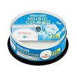 マクセル 音楽用 CD-R インクジェットプリンター対応 ひろびろ美白レーベル 80分 20枚(スピンドルケース) CDRA80WP.20SP