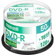 マクセル 録画用 DVD-R 1-16倍速対応(CPRM対応) インクジェットプリンター対応 ホワイト 120分 50枚(スピンドルケース) DRD120PWE.50SP