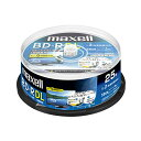 maxell 録用BD-R DL 2層 1回録用 地上デジタル360分 BSデジタル260分 2倍速 IJPホワイトワイド印刷 25枚 スピン... マクセル