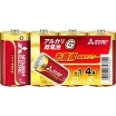 三菱 アルカリ乾電池 GD 単1形 4本パック LR20GD/4S