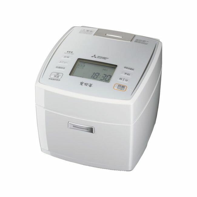 三菱ジャー炊飯器 「備長炭炭炊釜」 ピュアホワイト NJ-VV108-W(1台)