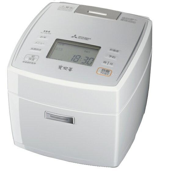 三菱ジャー炊飯器 「備長炭炭炊釜 ピュアホワイト NJ-VE108-W(1台)