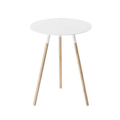 山崎実業 サイドテーブル プレーン ホワイト 2341の写真