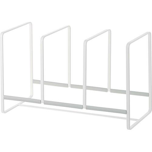 ディッシュラック プレート ワイド ホワイト Lサイズ(1コ入)の写真