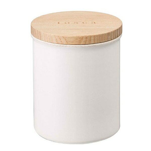 陶器キャニスター トスカ ホワイトの写真
