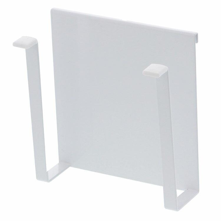 山崎実業 自立式メッシュパネル用 まな板ハンガー タワー ホワイト 4197の写真