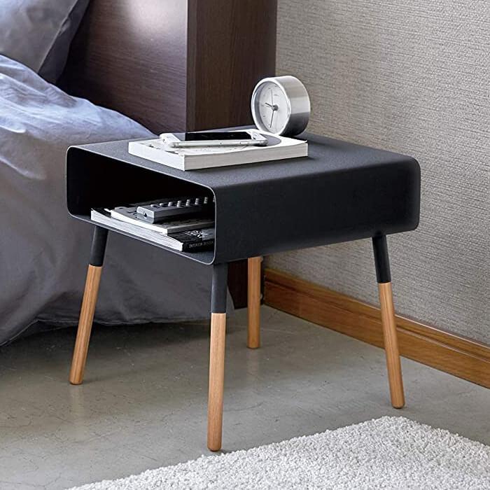 山崎実業 ローサイドテーブル プレーン ブラック 4230の写真