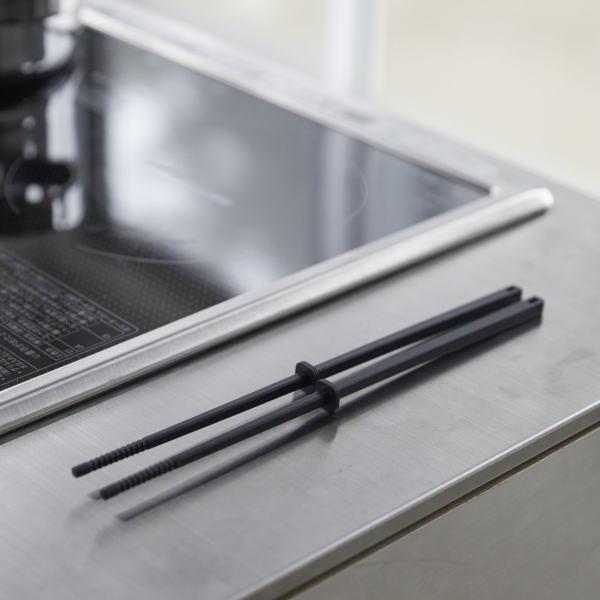 山崎実業 シリコーン菜箸 タワー ブラック 4275