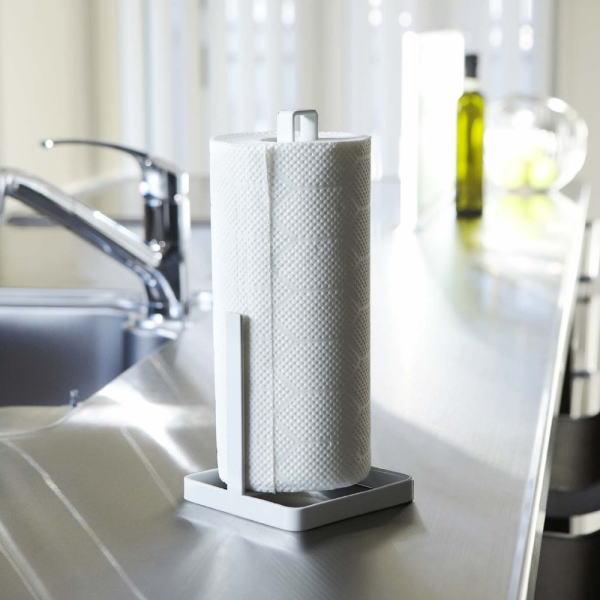 キッチンペーパーホルダー タワー ホワイト(1コ入)の写真