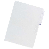 リクエスト 立体見出し付きクリヤーホルダー 5枚パック A4 乳白の写真