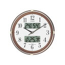 CITIZEN シチズン 電波掛時計 ネムリーナカレンダーリブ 4FYA05-006