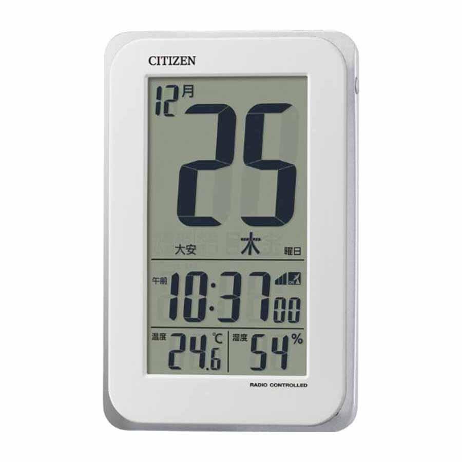 CITIZEN/シチズン 8RZ139-003 電波めざまし時計 日付表示/温湿度表示/残照機能