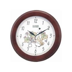 リズム時計 4KG690MA06 茶色半艶仕上 トトロM690A 掛時計