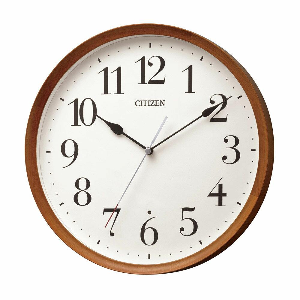 CITIZEN 電波掛け時計 直径28.3cm 8MY540-006の写真