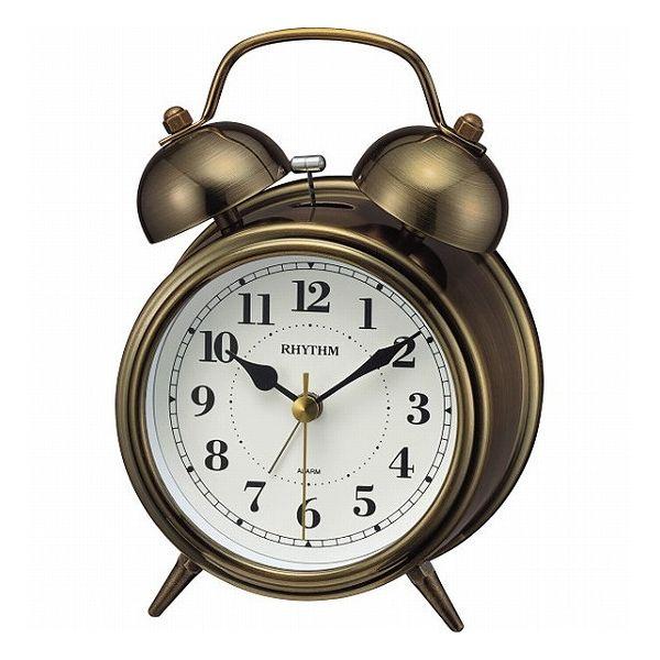 RHYTHM/リズム時計 8RAA06SR63 コールマンB06 レトロ風金色イブシ仕上 ツインベル目覚まし時計の写真