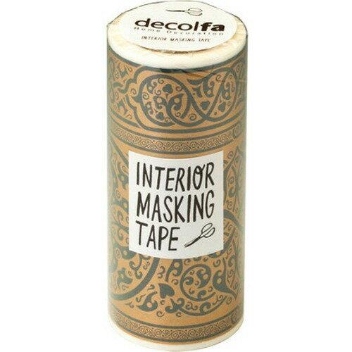 decolfa(デコルファ) インテリアマスキングテープ 幅10cm*長さ8m巻き ダマスク/ゴールド(1巻入)