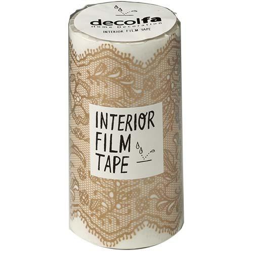 インテリアフィルムテープ 100mm レース ゴールド M3852(1巻)