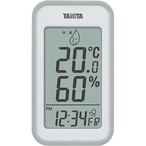 タニタ デジタル温湿度計 グレー TT559GY(1コ入)の写真