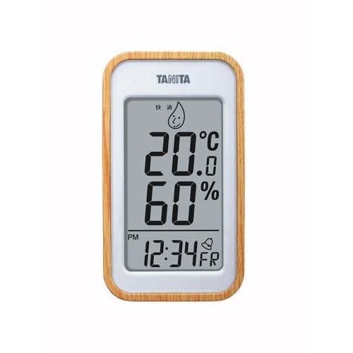タニタ デジタル温湿度計 ナチュラル TT572NA