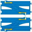 プラレール R-24 複線わたりポイントレール