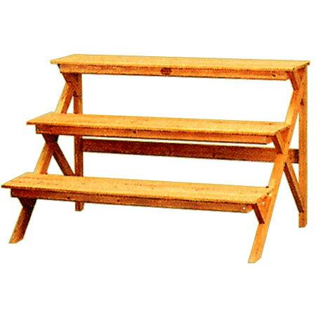 アイリスオーヤマ 木製フラワースタンド ブラウン GD-903の写真