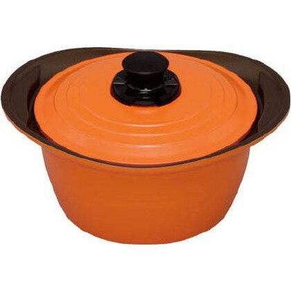 IH対応 キッチンシェフ 無加水鍋 24cm 深型 オレンジ MKS-P24D(1コ入)の写真