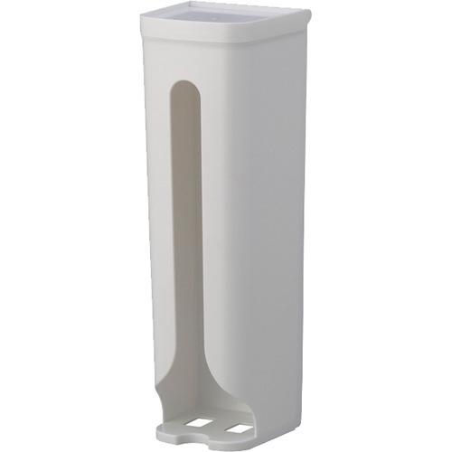 レジ袋ストッカー ホワイト 吸盤用補助シール付き 0097(1コ入)の写真