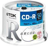 TDK PCデータ用 CD-R 700MB 48倍速対応 ホワイトディスク 50枚 CD-R80PWDX50PE