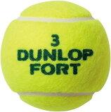 ダンロップ DUNLOP 硬式テニスボール FORT2P バラ 1缶