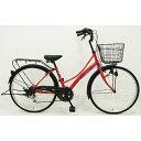 サイモト 26型 自転車 リアージュファッション ファミリー レッド/外装6段変速 266RAJRD