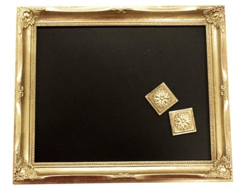 オペレッタ マグネット ブラックボード 黒板  アンティークゴールド OPT-2025BBの写真