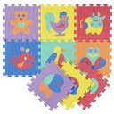 ジョイント式マット パズルマット風(動物) 30×30 9枚入 N-9396