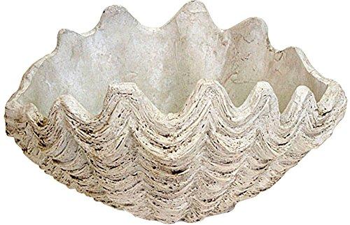 プランター 植木鉢 貝型鉢 シャコ貝 プランター中 底穴あり レジン 貝モチーフ 鉢 オーナメント オシャレ