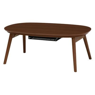 萩原 家具調こたつ 折れ脚 折りたたみテーブル 幅90cm ウォールナット カルミナ950WN TA2090854000