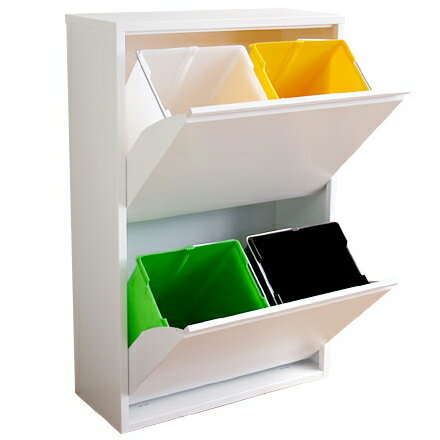 ASPLUND アスプルンド 4リサイクルダストボックス ホワイトの写真