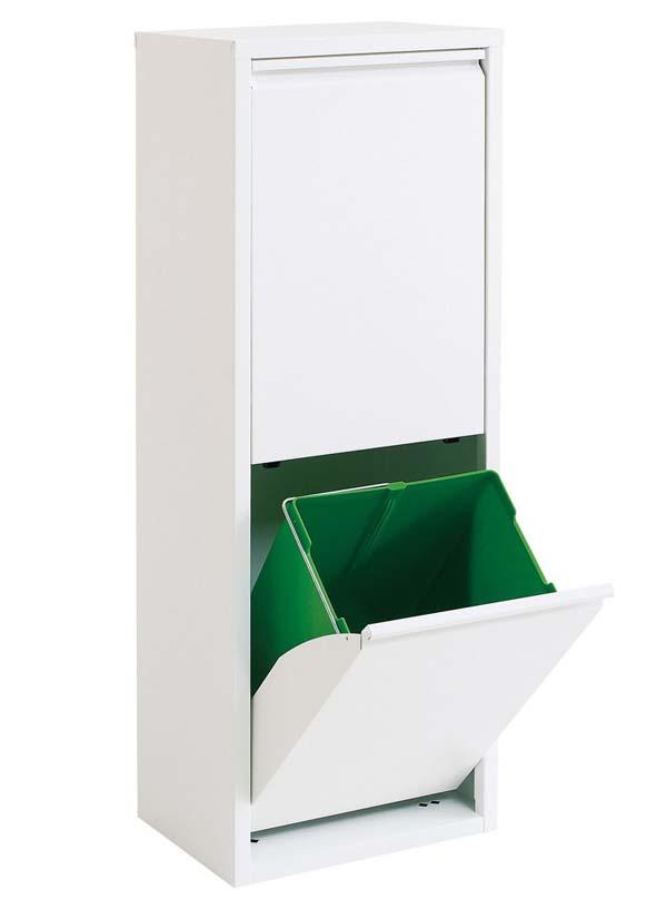 Garage 分別ゴミ箱 2リサイクルビン011264白の写真