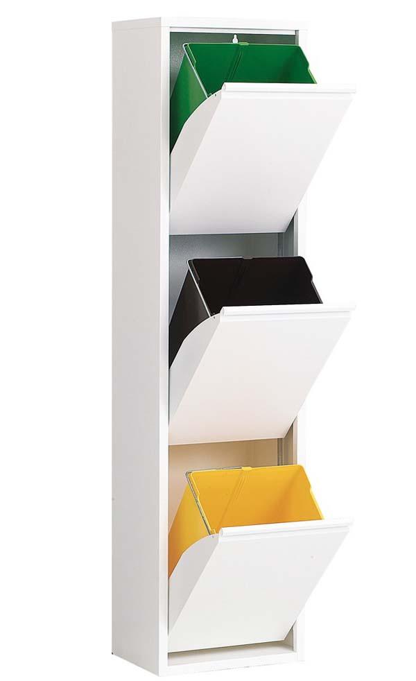 ASPLUND アスプルンド 3リサイクルダストボックス ホワイトの写真