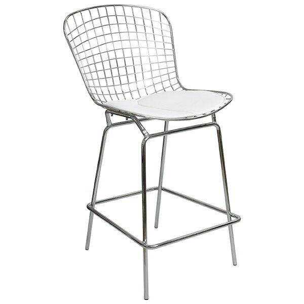 (チェア イス)ワイヤーバーチェア(椅子 バーチェア カウンターチェア おしゃれ) PCX-020・ホワイト・ブラック