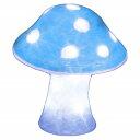 Jefcom(ジェフコム)LEDクリスタルモチーフ STM-F10WB-MA キノコ(中)白 青