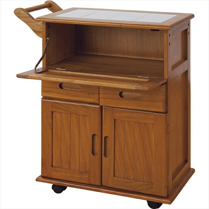 OSK-T016 大竹産業 天然木 桐 フラップ式キッチンワゴン OSKT016の写真