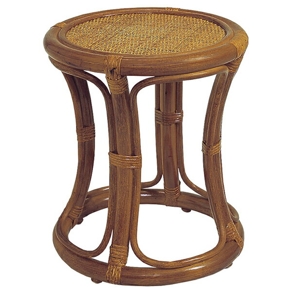 籐スツール ラタン椅子(イス・チェア)  C415HRの写真