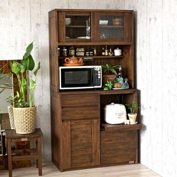 アジアン 無垢材 キッチンボード ACK719KAの写真